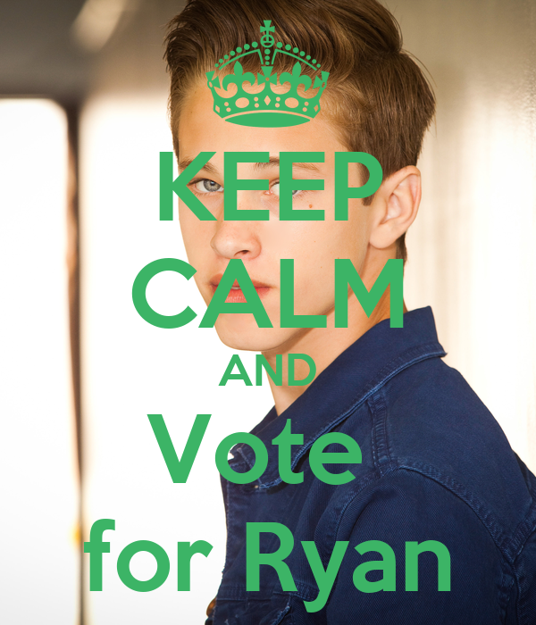 KEEP CALM AND Vote  for Ryan