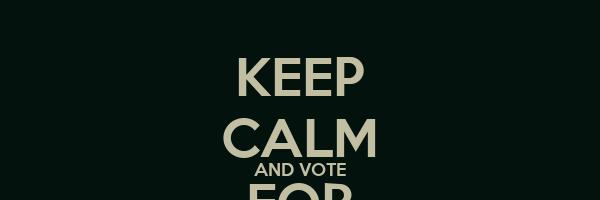 KEEP CALM AND VOTE FOR STO CAZZO