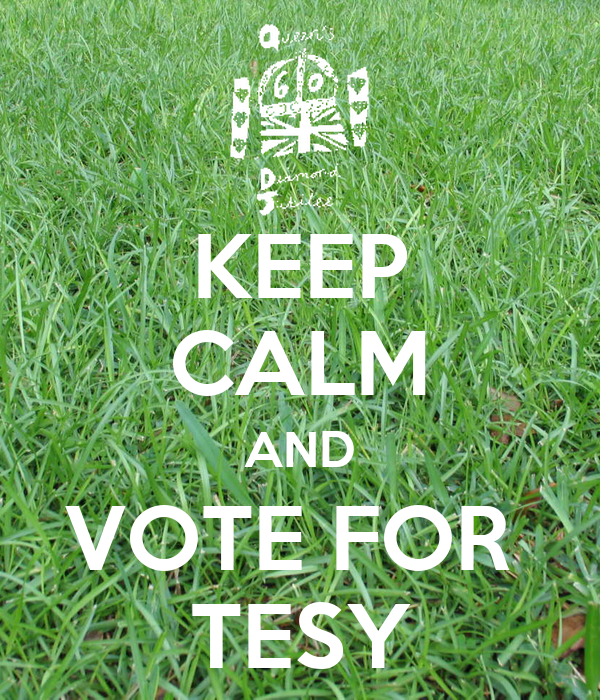 KEEP CALM AND VOTE FOR  TESY