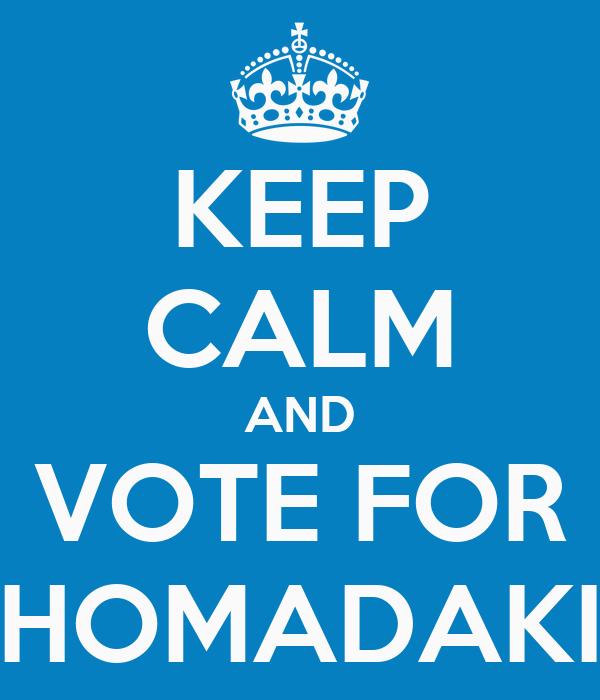 KEEP CALM AND VOTE FOR THOMADAKIS