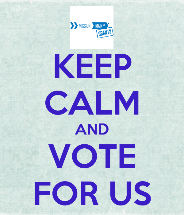 KEEP CALM AND VOTE FOR US