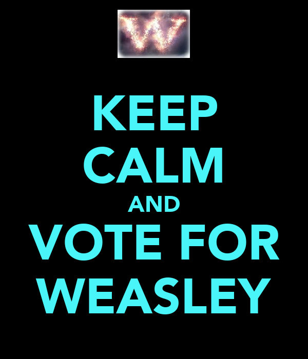 KEEP CALM AND VOTE FOR WEASLEY