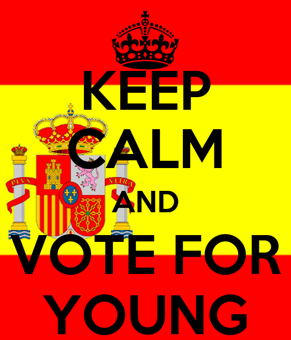 KEEP CALM AND VOTE FOR YOUNG