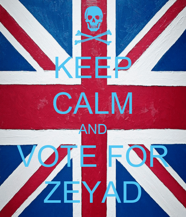 KEEP CALM AND VOTE FOR ZEYAD