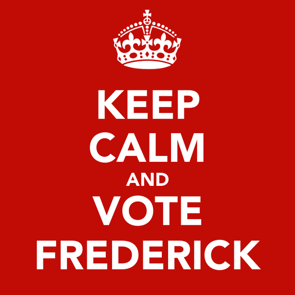KEEP CALM AND VOTE FREDERICK