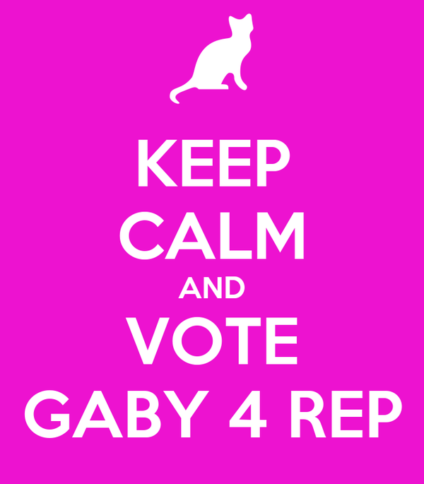 KEEP CALM AND VOTE GABY 4 REP