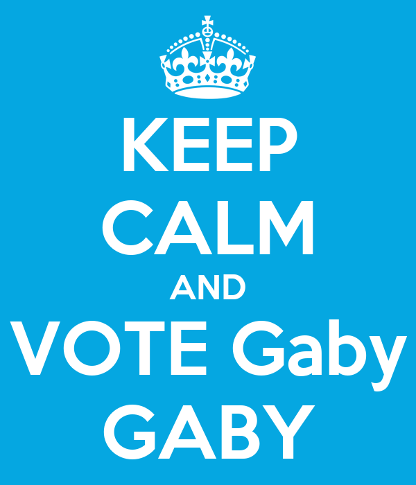 KEEP CALM AND VOTE Gaby GABY