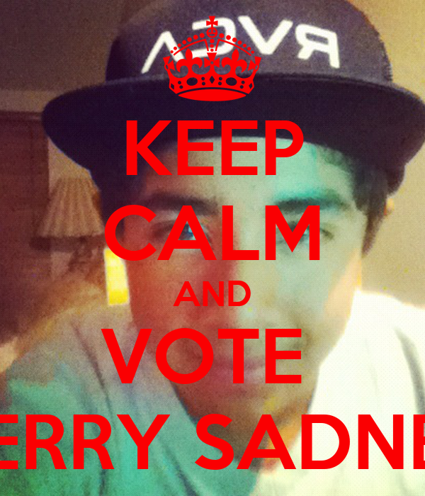 KEEP CALM AND VOTE  GERRY SADNEY
