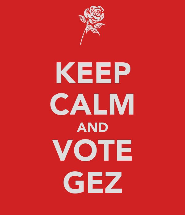 KEEP CALM AND VOTE GEZ