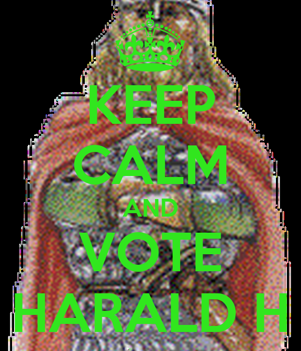 KEEP CALM AND VOTE HARALD H