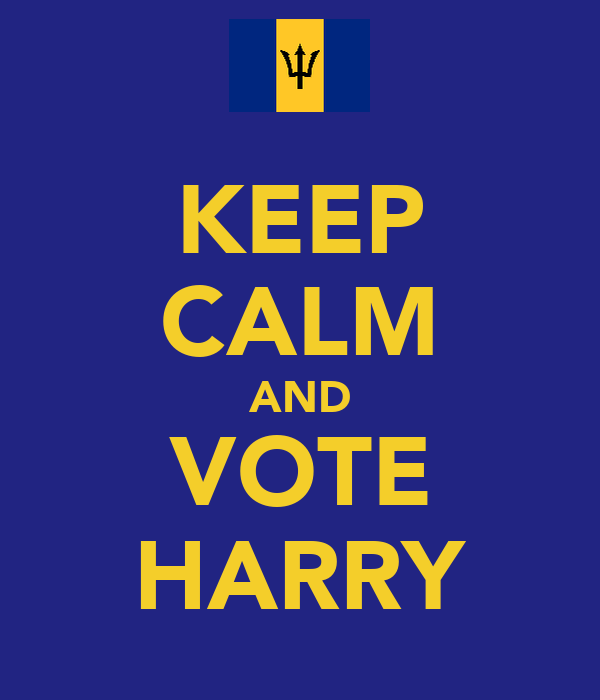 KEEP CALM AND VOTE HARRY