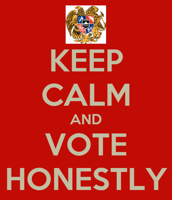 KEEP CALM AND VOTE HONESTLY