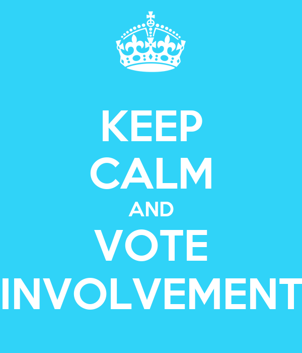 KEEP CALM AND VOTE INVOLVEMENT