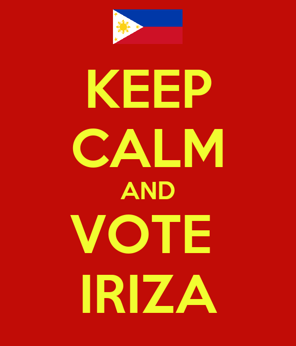 KEEP CALM AND VOTE  IRIZA