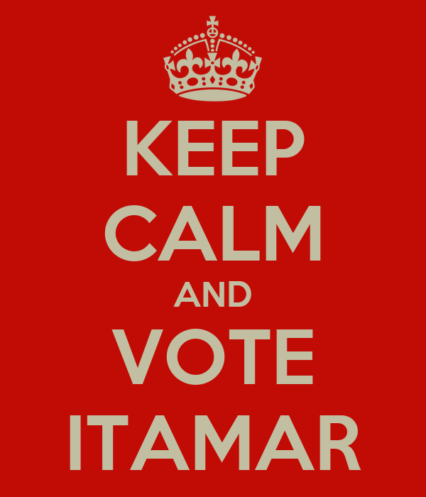 KEEP CALM AND VOTE ITAMAR