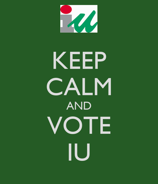 KEEP CALM AND VOTE IU
