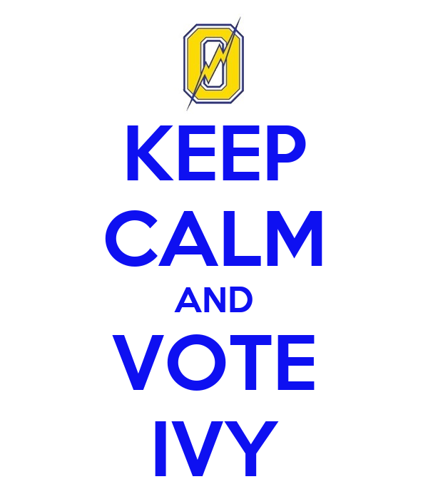 KEEP CALM AND VOTE IVY