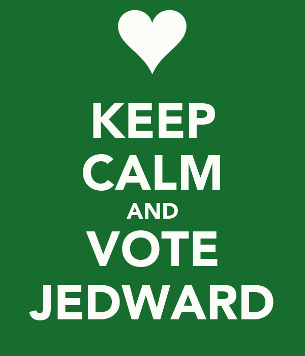 KEEP CALM AND VOTE JEDWARD