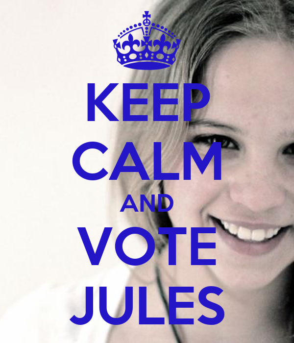 KEEP CALM AND VOTE JULES
