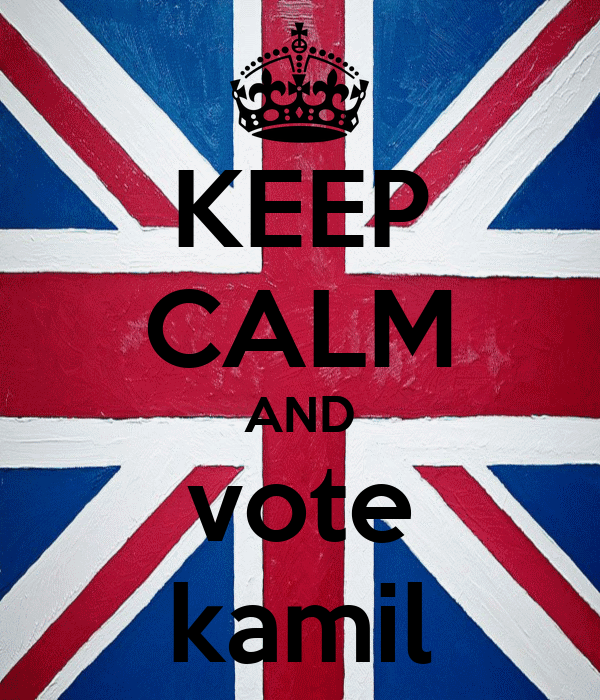 KEEP CALM AND vote kamil