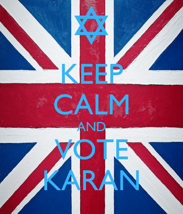 KEEP CALM AND VOTE KARAN