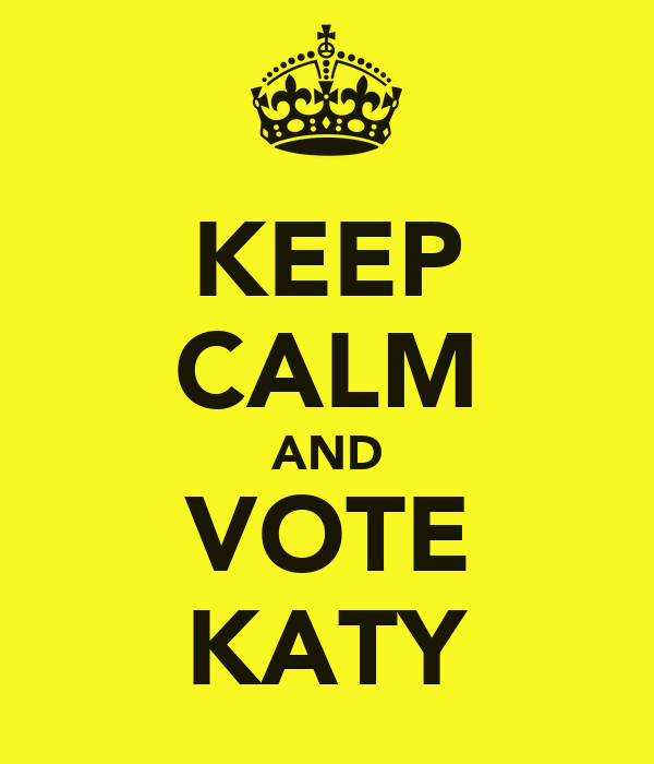 KEEP CALM AND VOTE KATY
