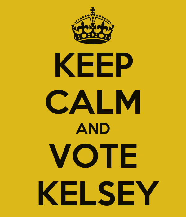 KEEP CALM AND VOTE   KELSEY