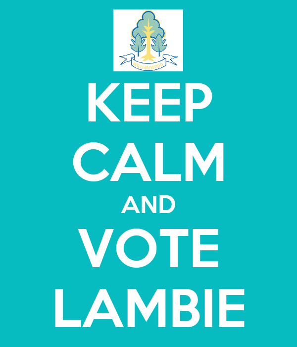 KEEP CALM AND VOTE LAMBIE
