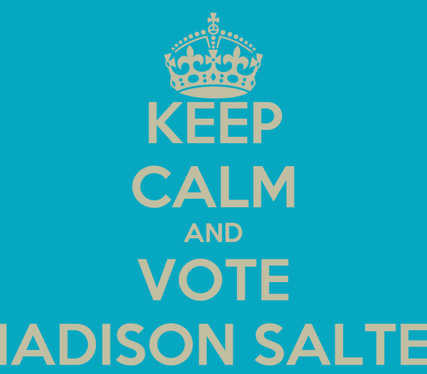 KEEP CALM AND VOTE MADISON SALTER