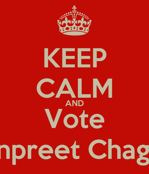 KEEP CALM AND Vote Manpreet Chaggar