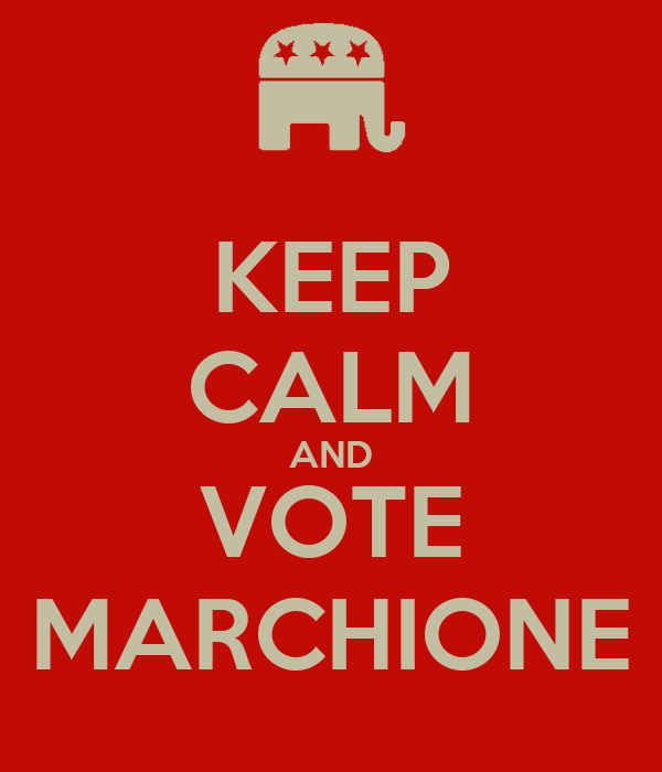 KEEP CALM AND VOTE MARCHIONE