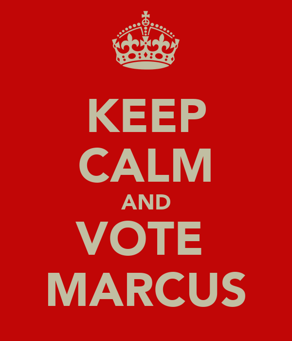 KEEP CALM AND VOTE  MARCUS
