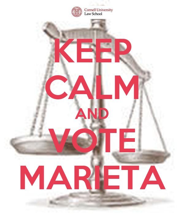 KEEP CALM AND VOTE MARIETA