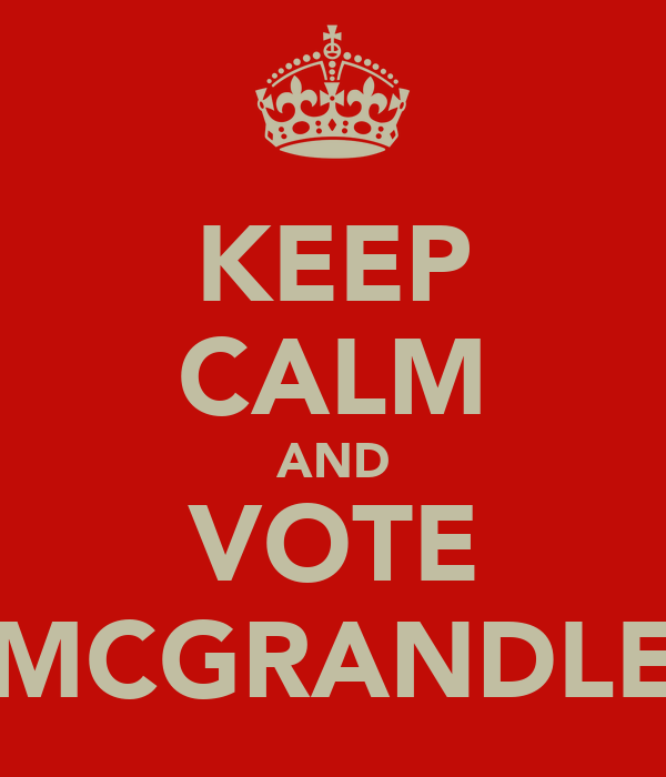 KEEP CALM AND VOTE MCGRANDLE