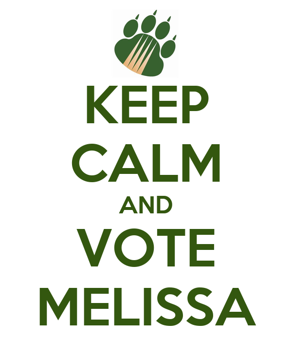 KEEP CALM AND VOTE MELISSA