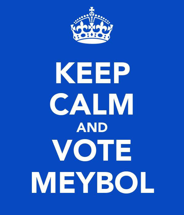 KEEP CALM AND VOTE MEYBOL