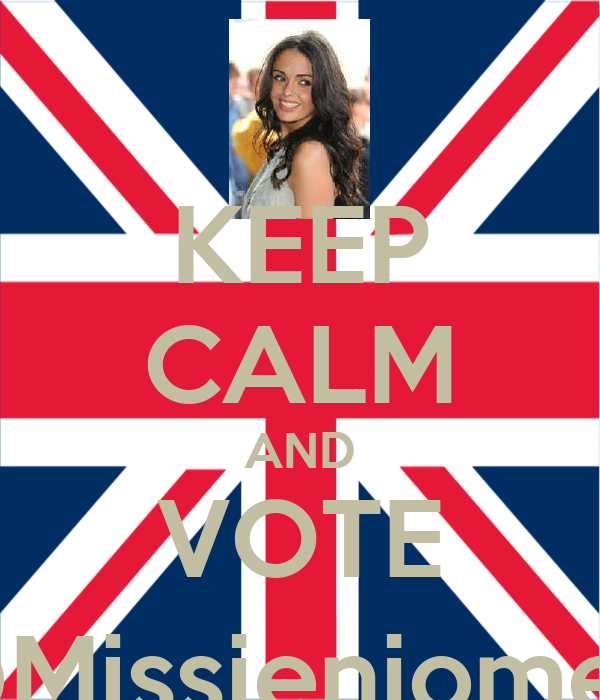 KEEP CALM AND VOTE @Missjenjomet