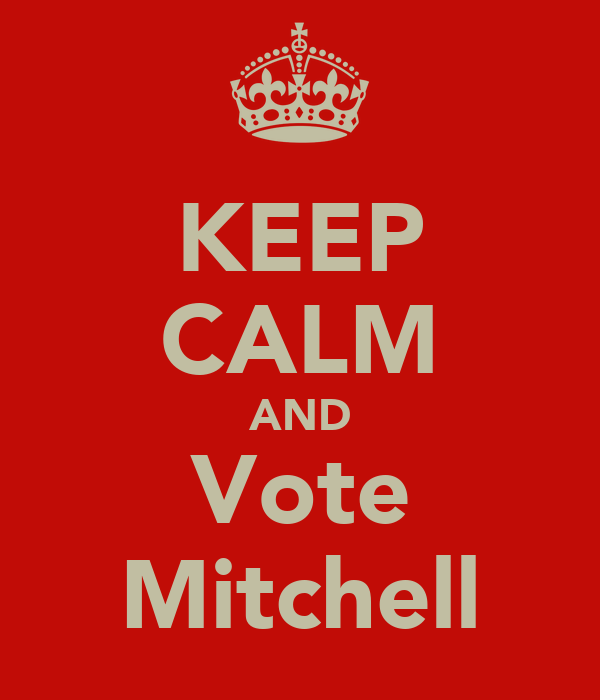 KEEP CALM AND Vote Mitchell