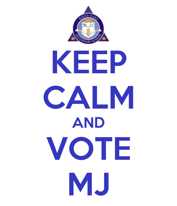 KEEP CALM AND VOTE MJ