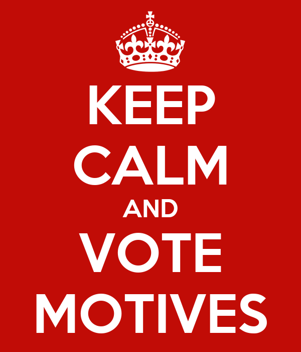 KEEP CALM AND VOTE MOTIVES