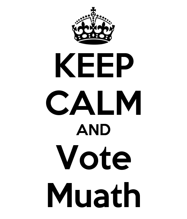 KEEP CALM AND Vote Muath