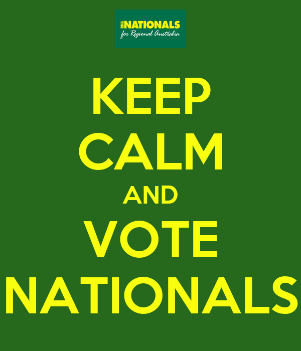 KEEP CALM AND VOTE NATIONALS