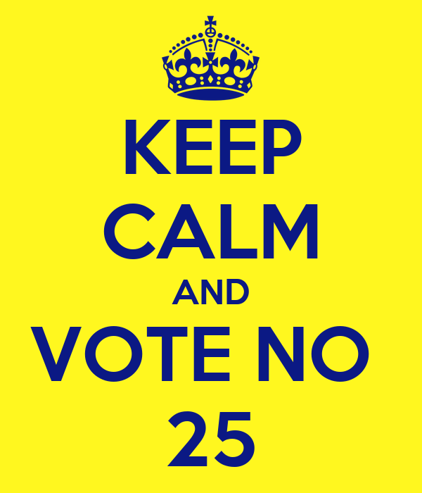 KEEP CALM AND VOTE NO  25