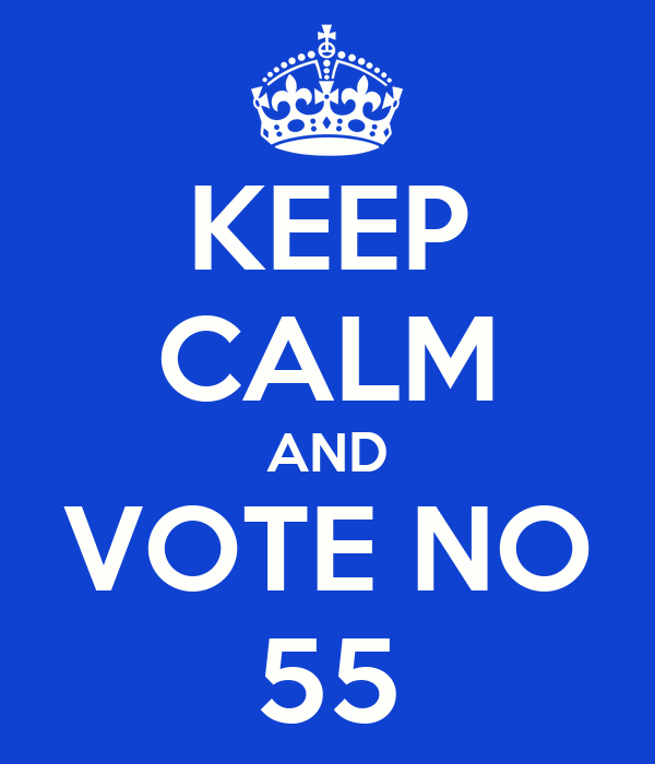 KEEP CALM AND VOTE NO 55