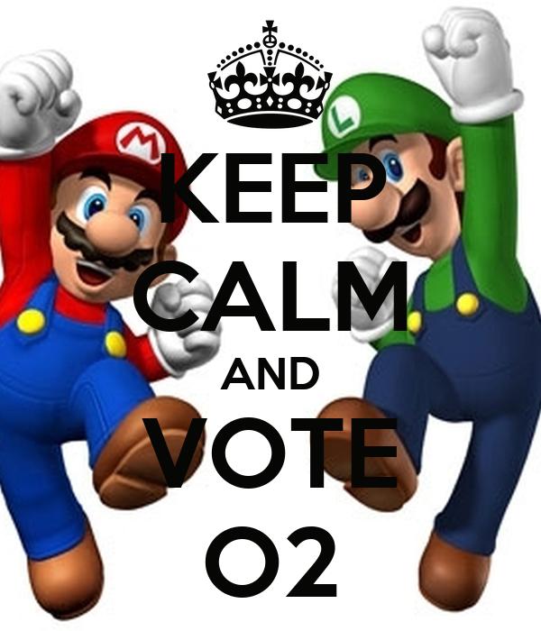 KEEP CALM AND VOTE O2