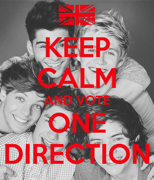 KEEP CALM AND VOTE ONE DIRECTION
