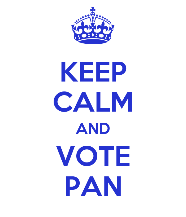 KEEP CALM AND VOTE PAN