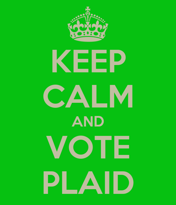 KEEP CALM AND VOTE PLAID