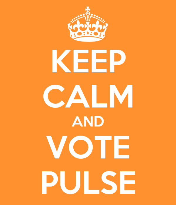 KEEP CALM AND VOTE PULSE