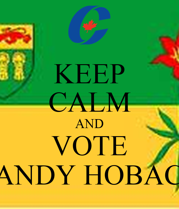 KEEP CALM AND VOTE RANDY HOBACK